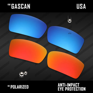 Anti Scratch Polarized Replacement Lenses for-Oakley Oil Drum Options