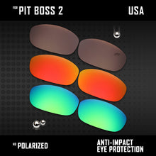 Load image into Gallery viewer, Anti Scratch Polarized Replacement Lenses for-Oakley Pit Boss2 OO9137 Options
