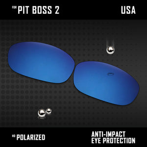 Anti Scratch Polarized Replacement Lenses for-Oakley Pit Boss2 OO9137 Options