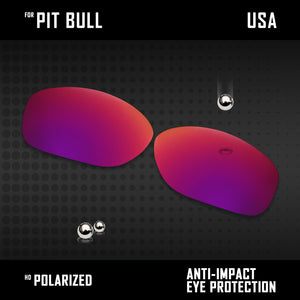 Anti Scratch Polarized Replacement Lenses for-Oakley Pit Bull OO9127 Options
