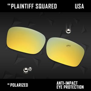 Anti Scratch Polarized Replacement Lens for-Oakley Plaintiff Squared OO4063 Opt