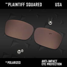 Load image into Gallery viewer, Anti Scratch Polarized Replacement Lens for-Oakley Plaintiff Squared OO4063 Opt
