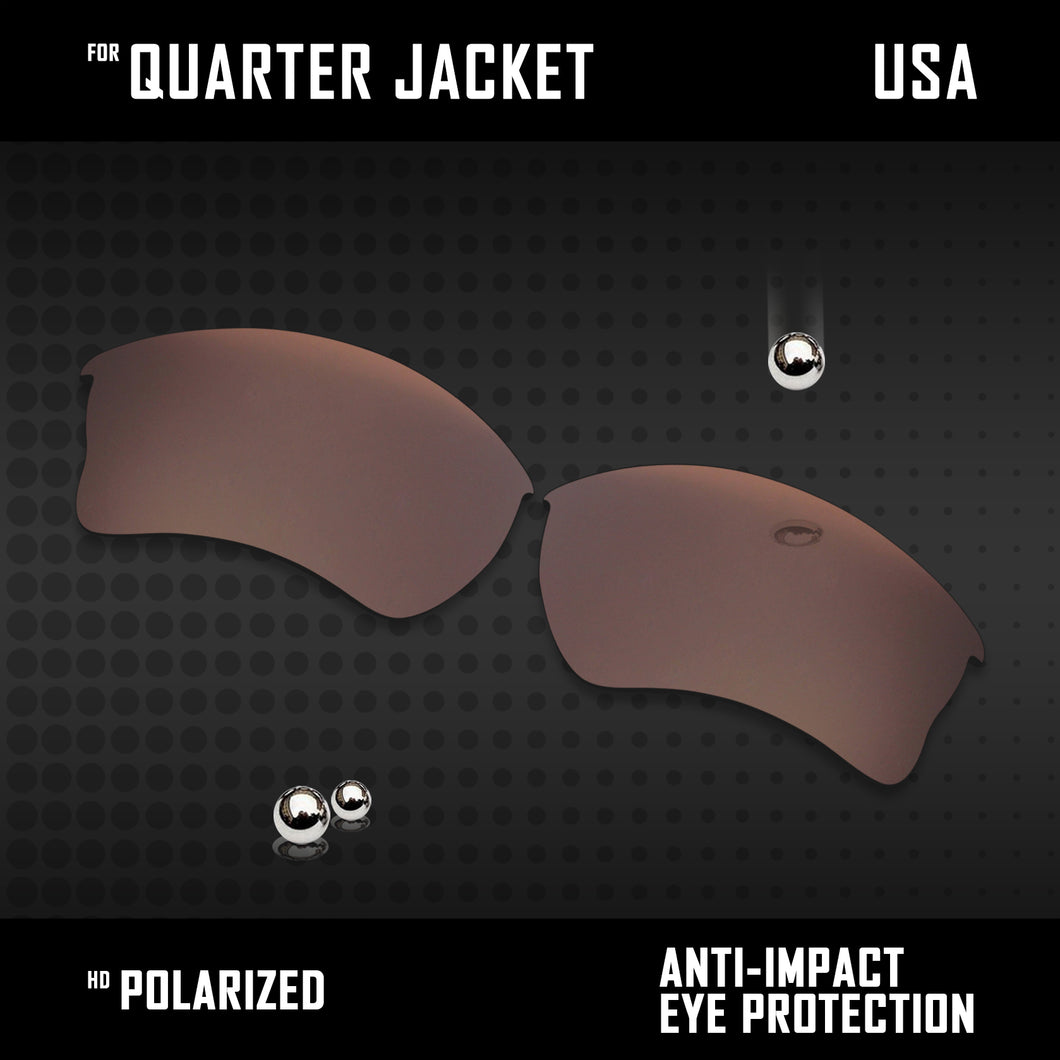 Anti Scratch Polarized Replacement Lenses for-Oakley Quarter Jacket OO9200 Opt