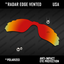 Load image into Gallery viewer, Anti Scratch Polarized Replacement Lens for-Oakley Radar Edge Vented OO9184 Opt