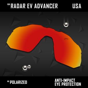 Anti Scratch Polarized Replacement Lens for-Oakley Radar EV Advancer OO9442 Opt