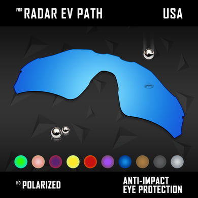 Anti Scratch Polarized Replacement Lenses for-Oakley Radar EV Path OO9208 Opt
