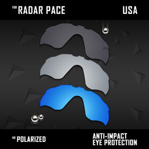 Anti Scratch Polarized Replacement Lenses for-Oakley Radar Pace OO9333 Options