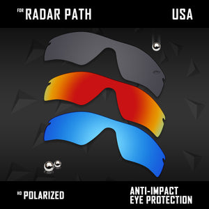Anti Scratch Polarized Replacement Lenses for-Oakley Radar Path Options