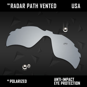 Anti Scratch Polarized Replacement Lenses for-Oakley Radar Path Vented Options
