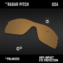 Load image into Gallery viewer, Anti Scratch Polarized Replacement Lenses for-Oakley Radar Pitch Options