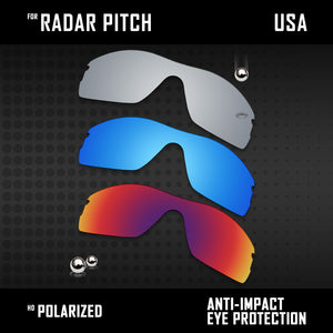 Anti Scratch Polarized Replacement Lenses for-Oakley Radar Pitch Options