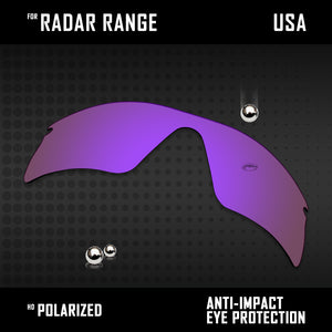 Anti Scratch Polarized Replacement Lenses for-Oakley Radar Range Options