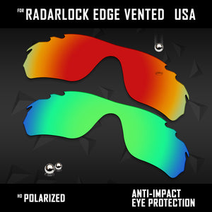 Anti Scratch Polarized Replacement Lens for-Oakley Radar Edge Vented OO9184 Opt
