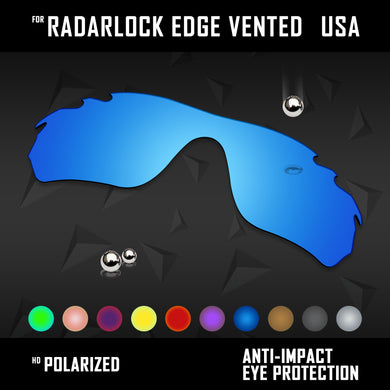 Anti Scratch Polarized Replacement Lens for-Oakley RadarLock Edge Vented OO9183