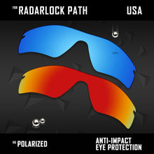 Load image into Gallery viewer, Anti Scratch Polarized Replacement Lenses for-Oakley RadarLock Path OO9181 Opts
