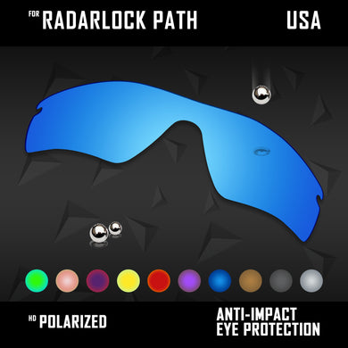 Anti Scratch Polarized Replacement Lenses for-Oakley RadarLock Path OO9181 Opts