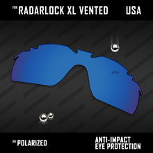 Load image into Gallery viewer, Anti Scratch Polarized Replacement Lenses for-Oakley RadarLock XL Vented Options