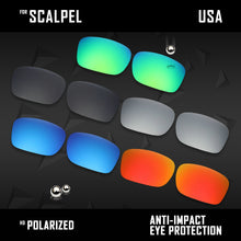 将图片加载到图库查看器,Anti Scratch Polarized Replacement Lenses for-Oakley Scalpel OO9095 Options