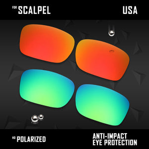 Anti Scratch Polarized Replacement Lenses for-Oakley Scalpel OO9095 Options