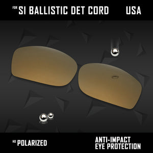 Anti Scratch Polarized Replacement Lenses for-Oakley Si Ballistic Det Cord Opts