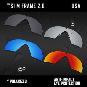 Anti Scratch Polarized Replacement Lenses for-Oakley Si M Frame 2.0 Options