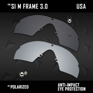Anti Scratch Polarized Replacement Lenses for-Oakley Si M Frame 3.0 OO9146 Opt