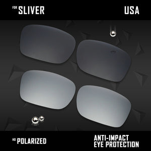 Anti Scratch Polarized Replacement Lenses for-Oakley Sliver OO9262 Options