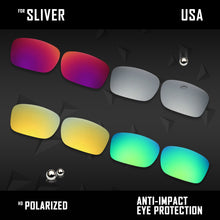 Load image into Gallery viewer, Anti Scratch Polarized Replacement Lenses for-Oakley Sliver OO9262 Options
