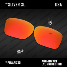 Load image into Gallery viewer, Anti Scratch Polarized Replacement Lenses for-Oakley Sliver XL OO9341 Options