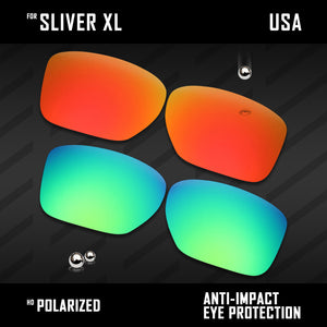 Anti Scratch Polarized Replacement Lenses for-Oakley Sliver XL OO9341 Options