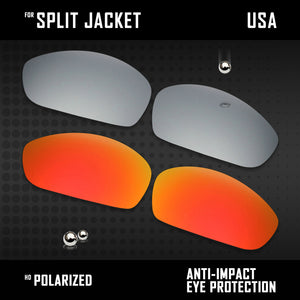 Anti Scratch Polarized Replacement Lenses for-Oakley Split Jacket OO9099 Options