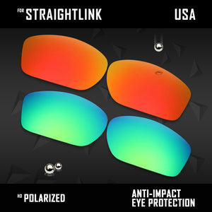 Anti Scratch Polarized Replacement Lenses for-Oakley Straightlink OO9331 Options