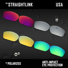 Load image into Gallery viewer, Anti Scratch Polarized Replacement Lenses for-Oakley Straightlink OO9331 Options