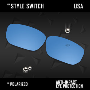 Anti Scratch Polarized Replacement Lenses for-Oakley Style Switch OO9194 Opts