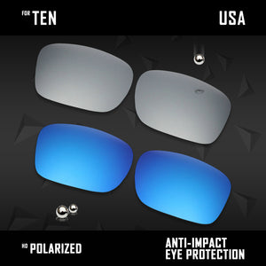 Anti Scratch Polarized Replacement Lenses for-Oakley Ten X OO9128 Options