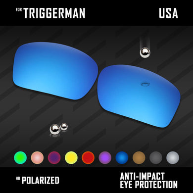 Anti Scratch Polarized Replacement Lenses for-Oakley Triggerman OO9266 Options