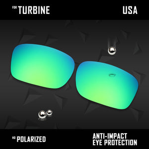 Anti Scratch Polarized Replacement Lenses for-Oakley Turbine OO9380 Options