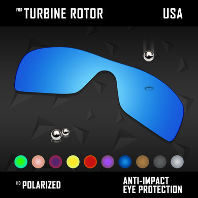 Anti Scratch Polarized Replacement Lenses for-Oakley Turbine Rotor OO9307 Opt