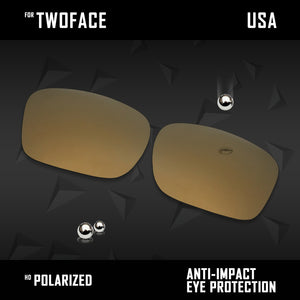 Anti Scratch Polarized Replacement Lenses for-Oakley TwoFace OO9189 Options