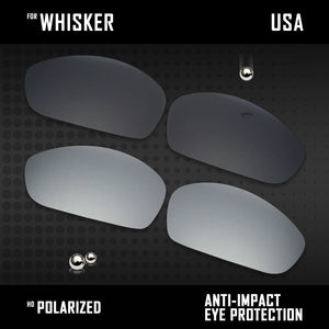 Anti Scratch Polarized Replacement Lenses for-Oakley Whisker Options