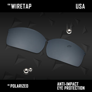 Anti Scratch Polarized Replacement Lenses for-Oakley WireTap Options
