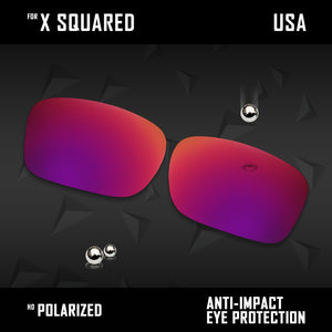 Anti Scratch Polarized Replacement Lenses for-Oakley X Squared OO6011 Options