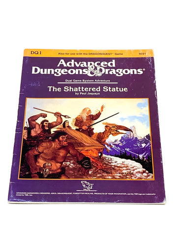 AD&D 1ST ED. DQ1 - THE SHATTERED STATUE. FN- CONDITION.