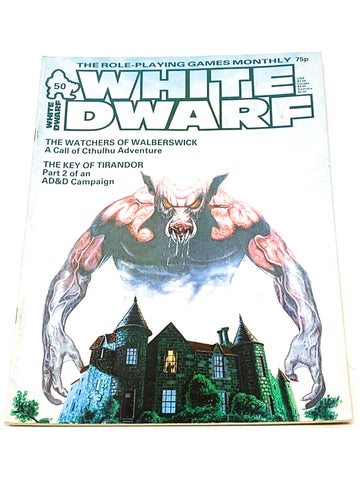 WHITE DWARF #50. VG+ CONDITION.