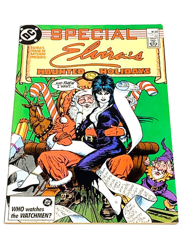 ELVIRA'S HOUSE OF MYSTERY HAUNTED HOLIDAYS SPECIAL #1 - VFN CONDITION.