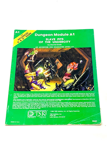 AD&D A1 - SLAVE PITS OF THE UNDERCITY. FN CONDITION.