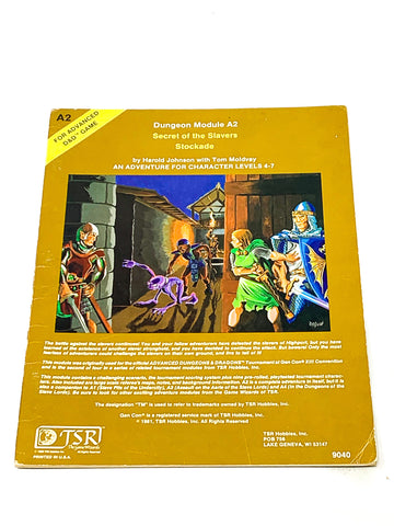 AD&D A2 - SECRET OF THE SLAVERS STOCKADE. FN CONDITION.