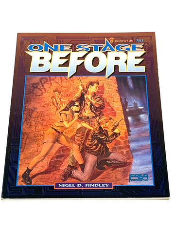 SHADOWRUN RPG - ONE STAGE BEFORE. FASA 7312