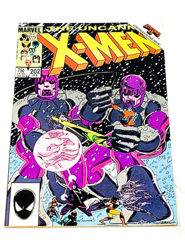 UNCANNY X-MEN #202. FN CONDITION.