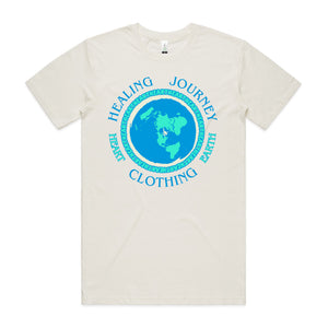 "Men's ""Heart Clothing Earth"" 100% Organic combed cotton T-shirt (un-bleached)"